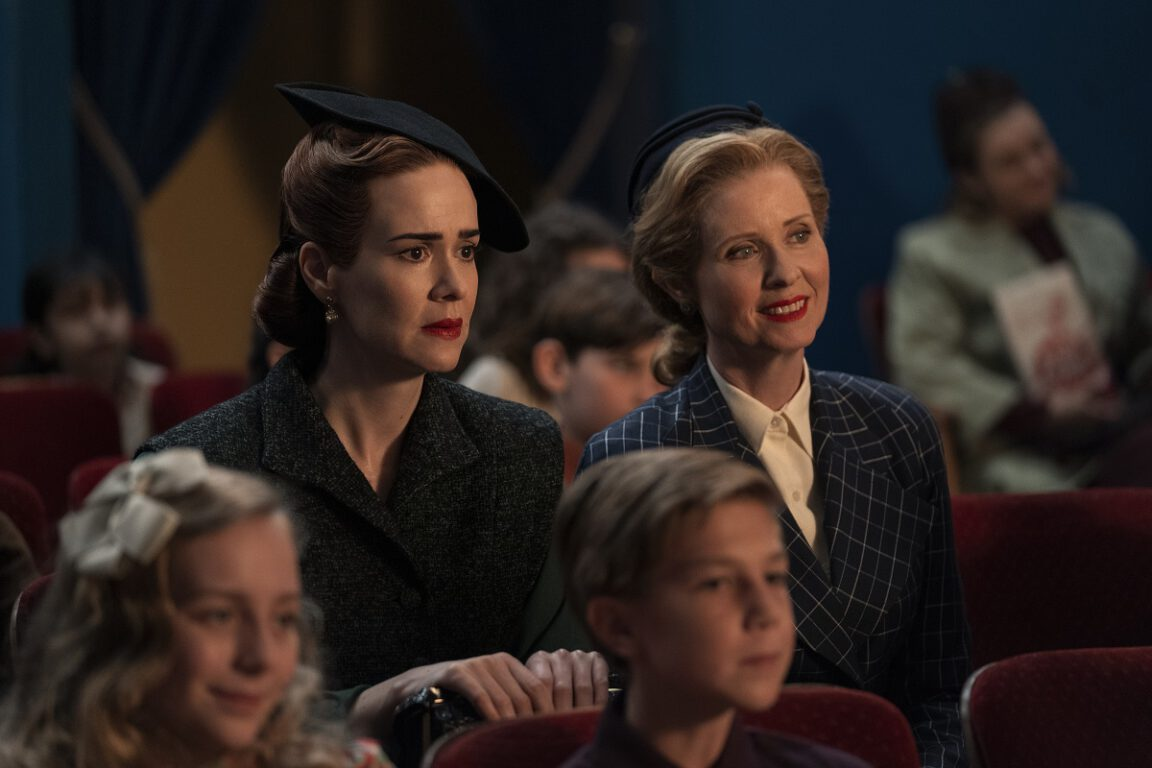 Still of Sarah Paulson and Cynthia Nixon in Ratched on Netflix.