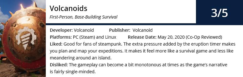 Volcanoids Game Summary