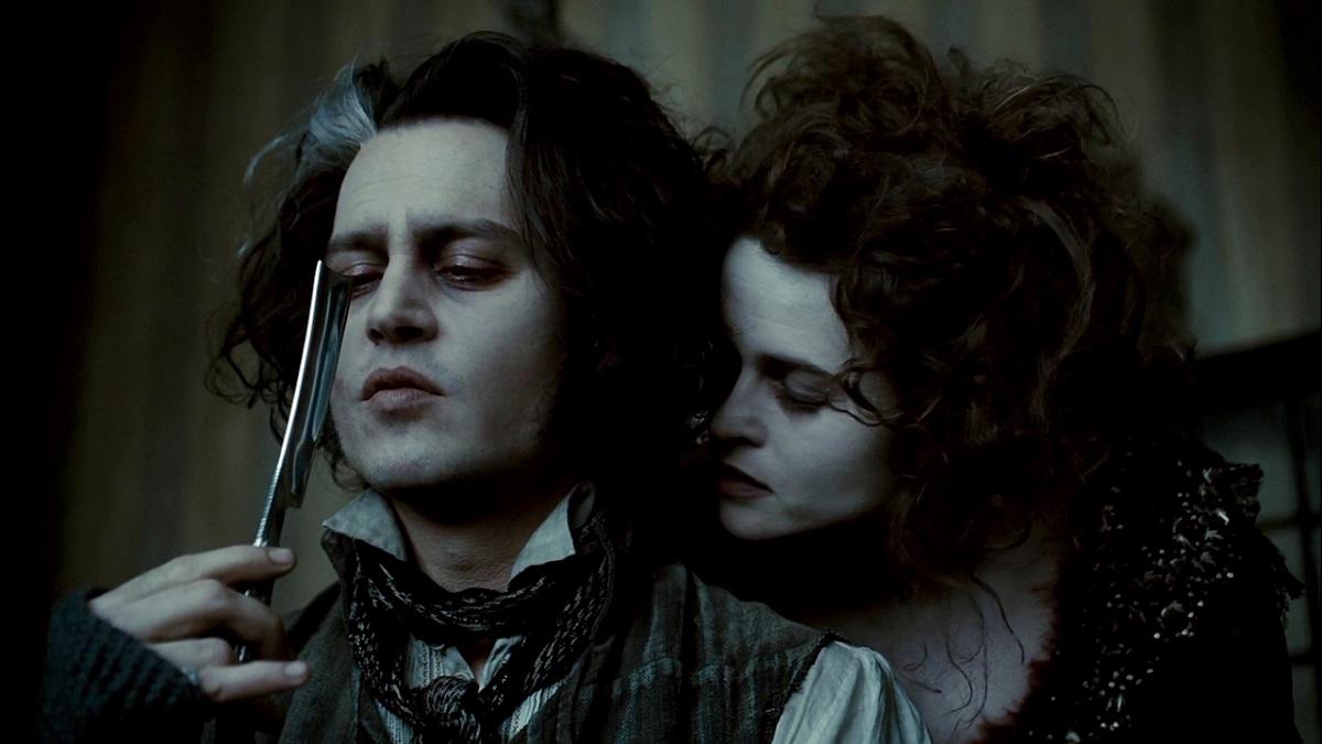 Still of Johnny Depp and Helena Bonham Carter in Sweeney Todd: The Demon Barber of Fleet Street.