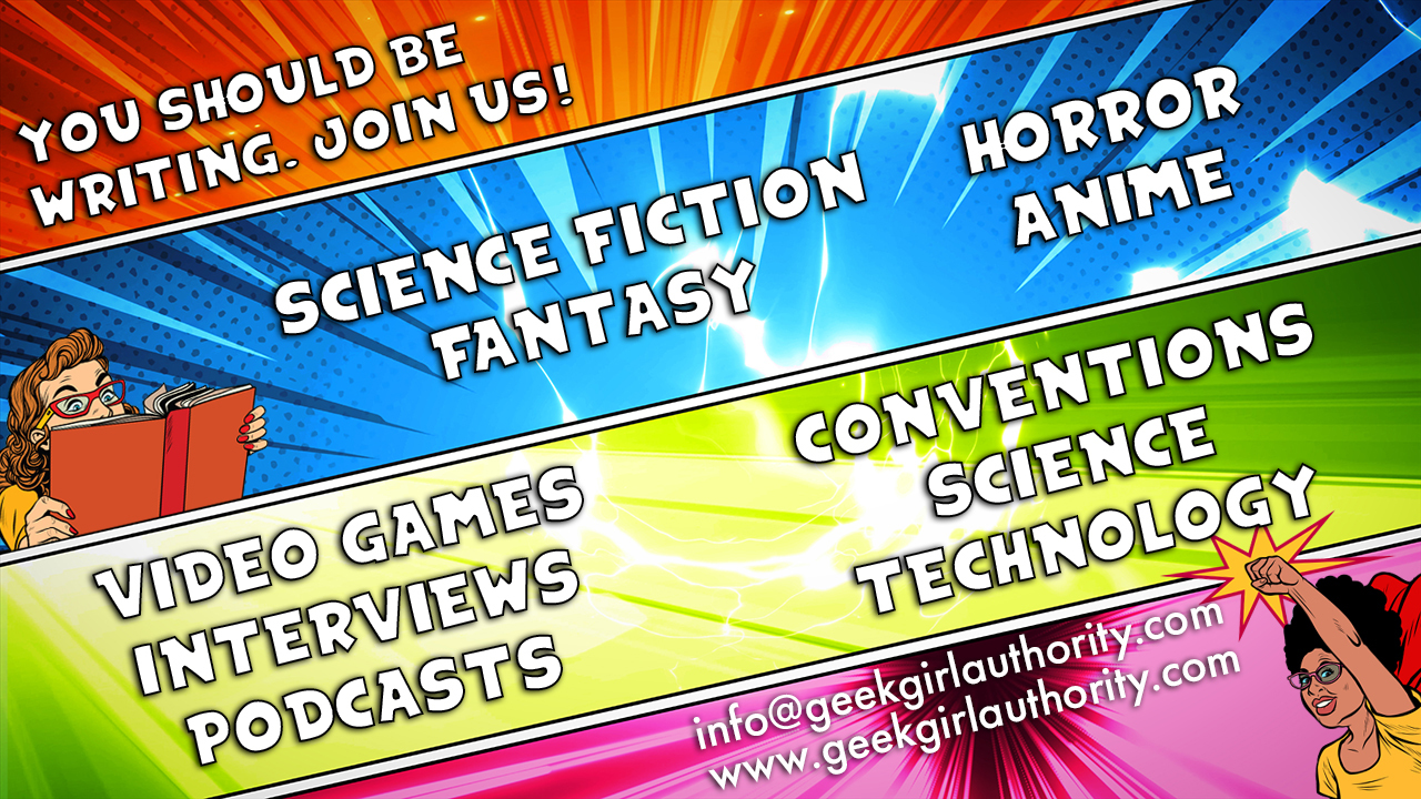 Comic layout showing Geek Girl Authority Call For Writers