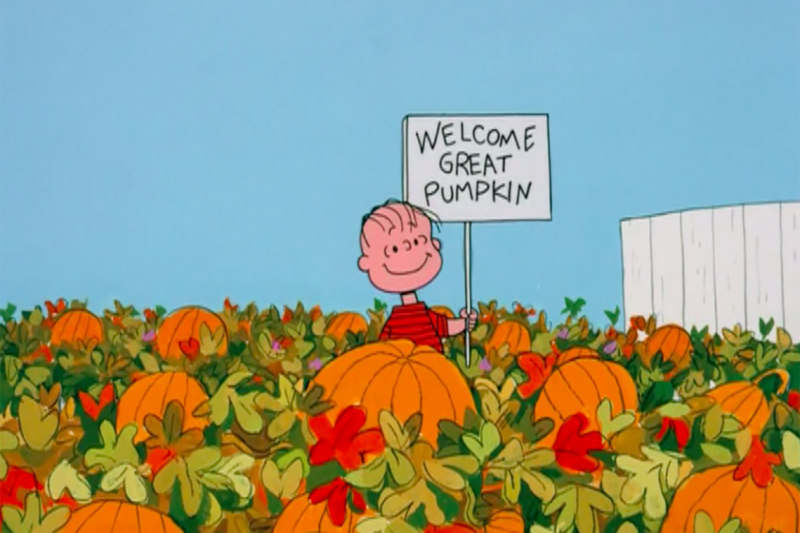 Photo from It's the Great Pumpkin, Charlie Brown. The Peanuts Halloween Special.