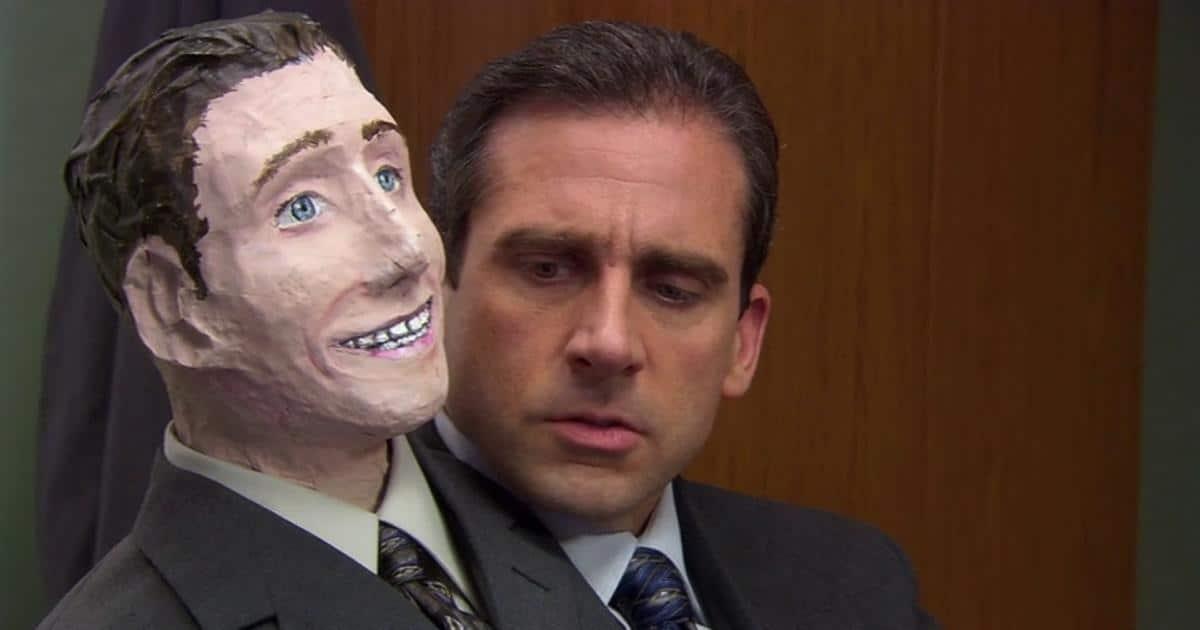 "Still of Steve Carrell in The Office Halloween episode, ""Halloween."""