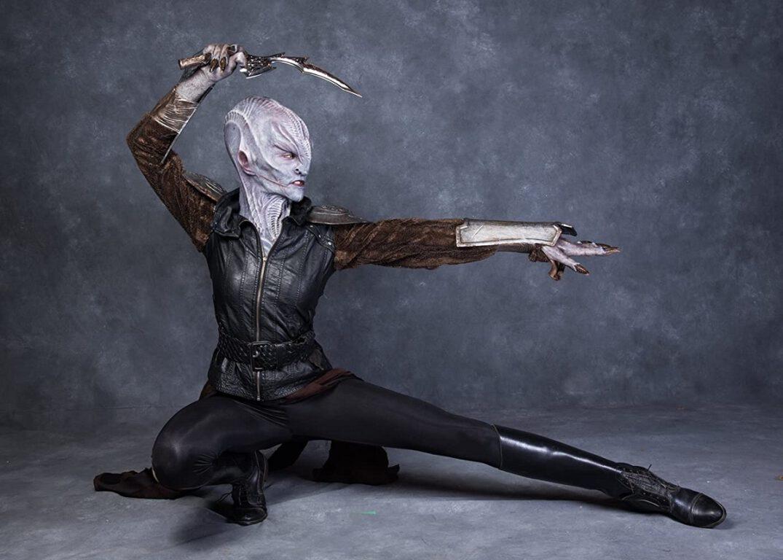 Avaah Blackwell as a Star Trek: Discovery Klingon for IMATS 2018.