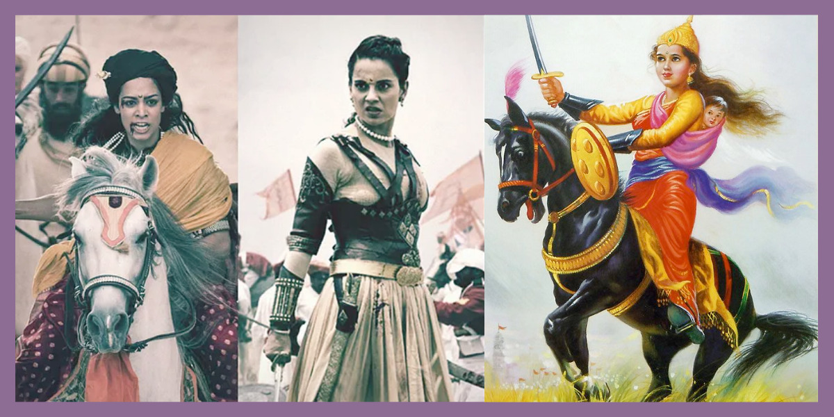 Different iterations of warrior queen Lakshmibai, the Rani of Jhansi, throughout history.
