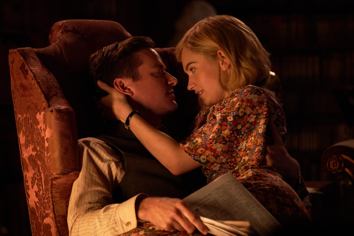 Armie Hammer and Lily James star in Rebecca.