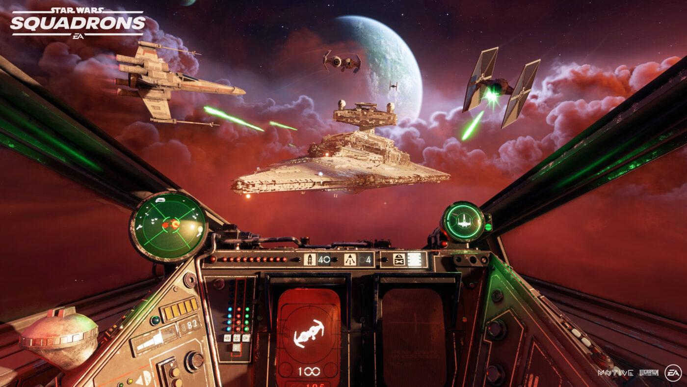 Behind the console in Star Wars Squadrons on of October's Most Anticipated Games