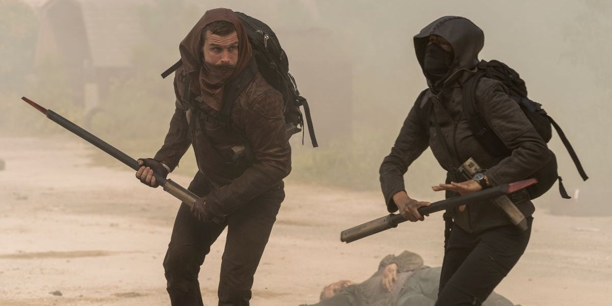 Felix and Huck stay to protect the kids on The Walking Dead: World Beyond