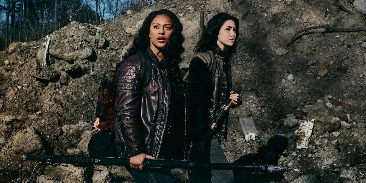 Alexa Mansour as Hope, Aliyah Royale as Iris- The Walking Dead: World Beyond