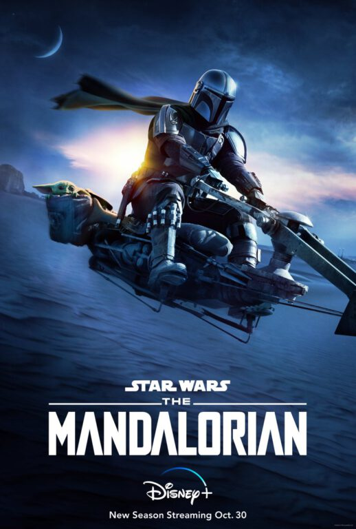 Poster for The Mandalorian Season 2, only on Disney Plus.