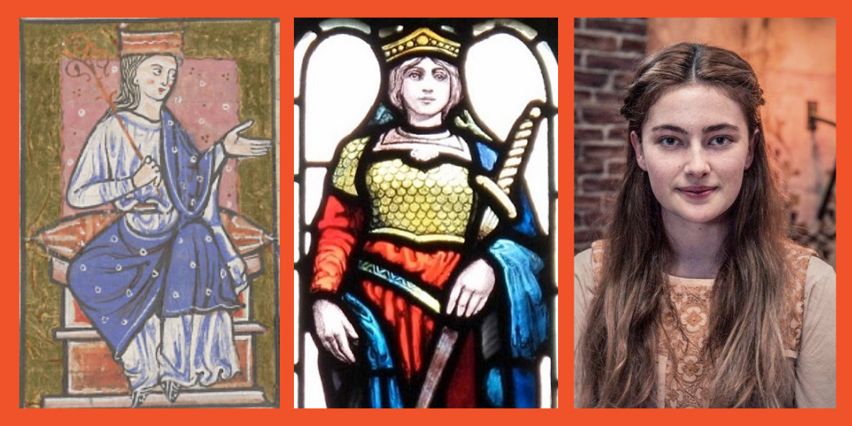 Different iterations of warrior queen Aethelflaed, Lady of Mercia, throughout history.