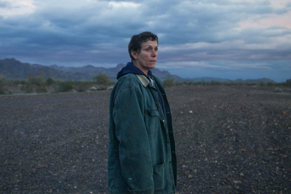 Frances McDormand stars in Nomadland.