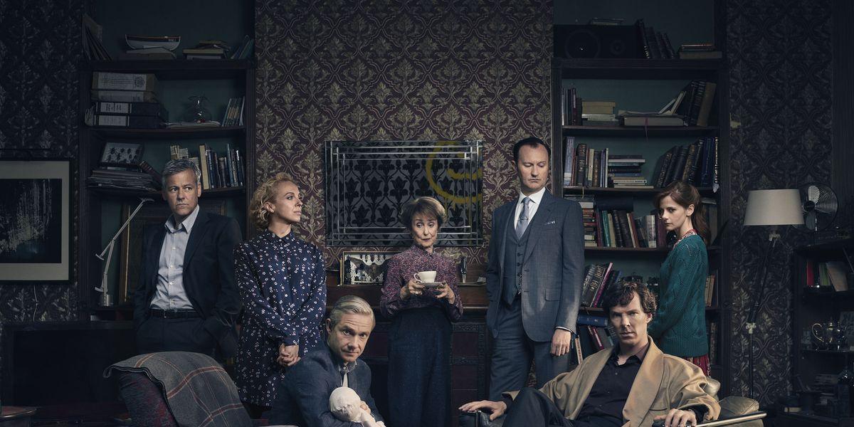 Still of the main cast of BBC Sherlock