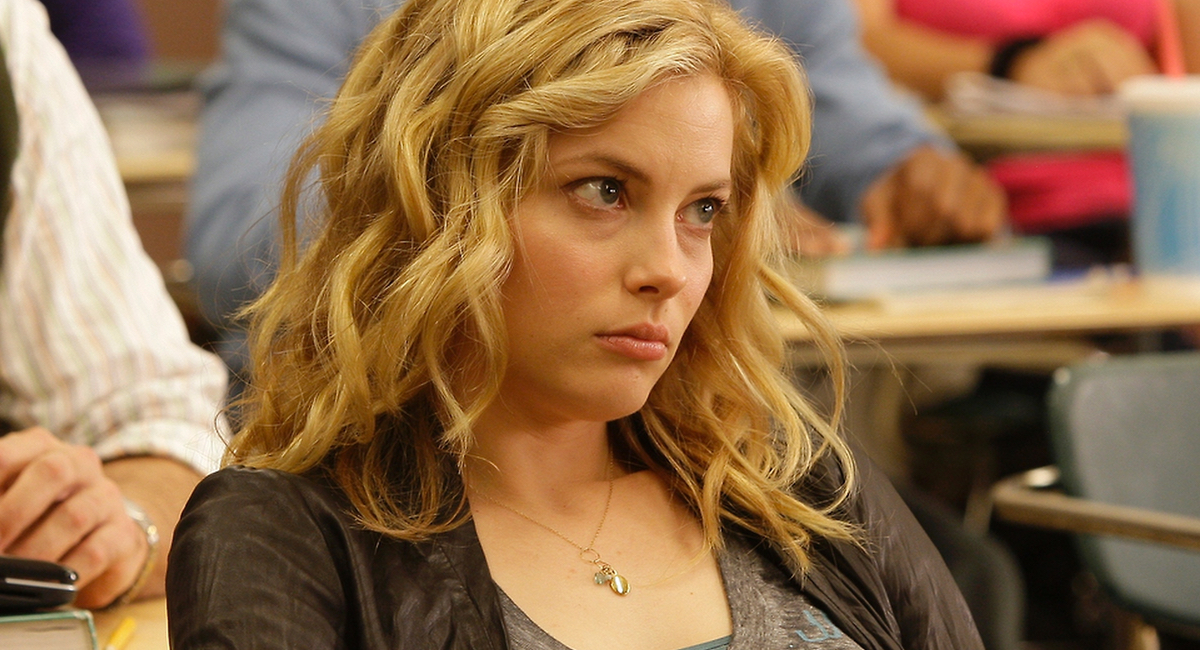 Still of Gillian Jacobs as Britta Perry in Community.