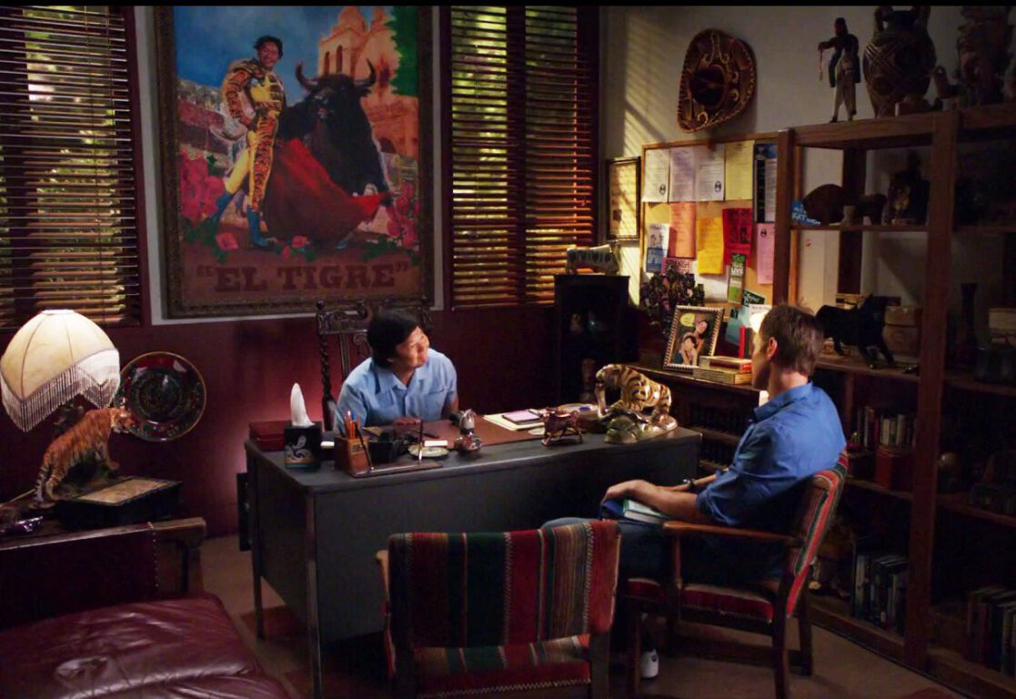 Still of Ken Jeong and Joel McHale in Community.