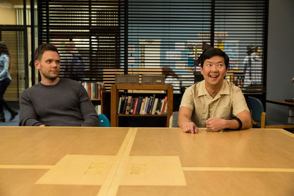 Still of Joel McHale and Ken Jeong in Community.