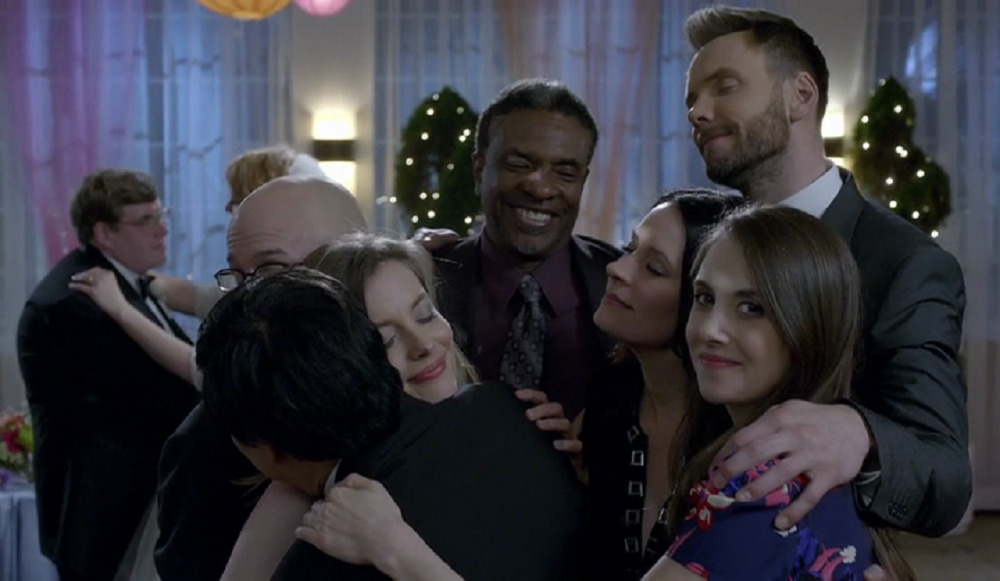 "Still of cast of Community in ""Wedding Videography."""