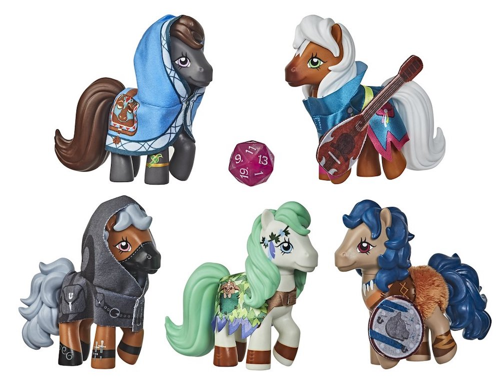 The My Little Pony and Dungeons and Dragons crossover toys.
