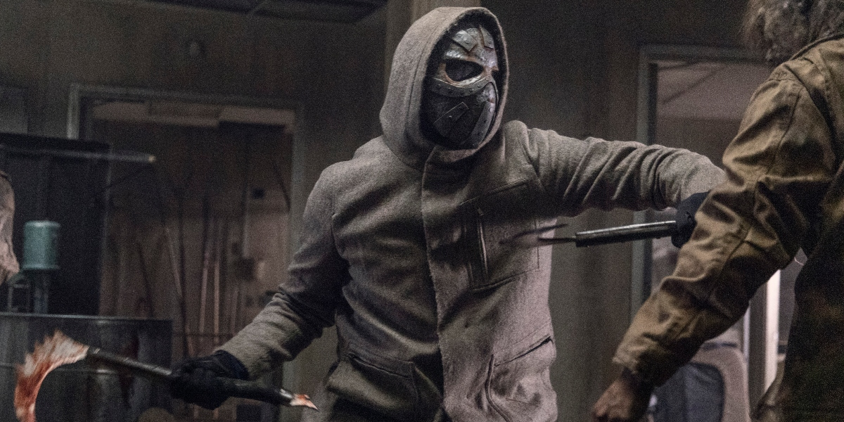 The mysterious masked man on The Walking Dead