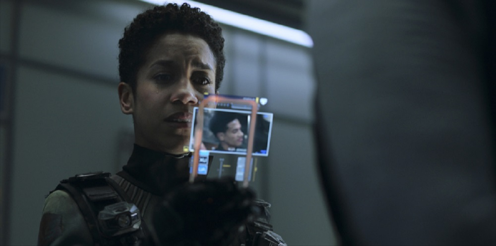 Still of Dominique Tipper as Naomi Nagata in The Expanse. Photo courtesy of Amazon Studios.