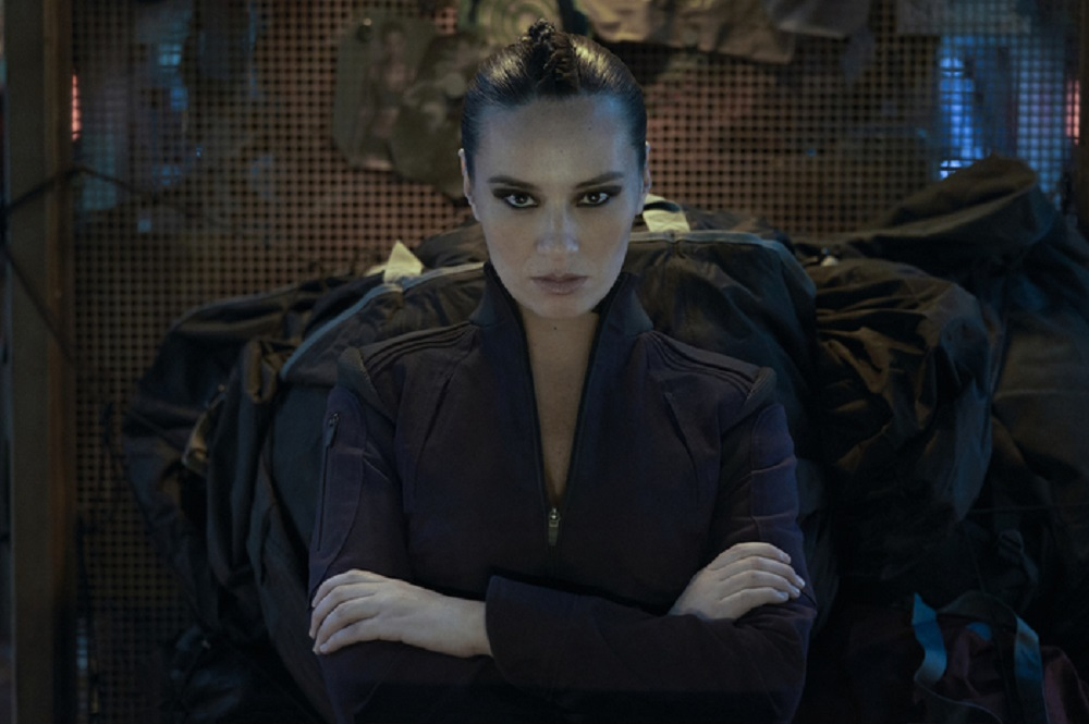 Still of Cara Gee as Camina Drummer in The Expanse. Photo courtesy of Amazon Studios.