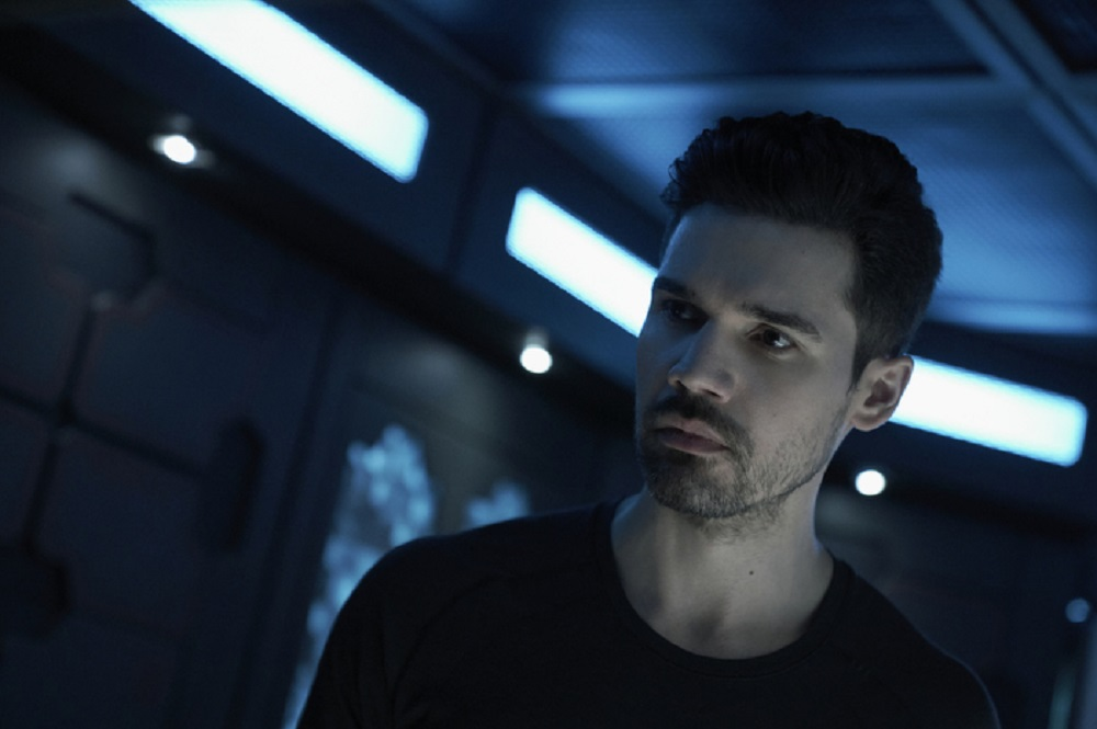 Still of Steven Strait as James Holden in The Expanse. Photo courtesy of Amazon Studios.