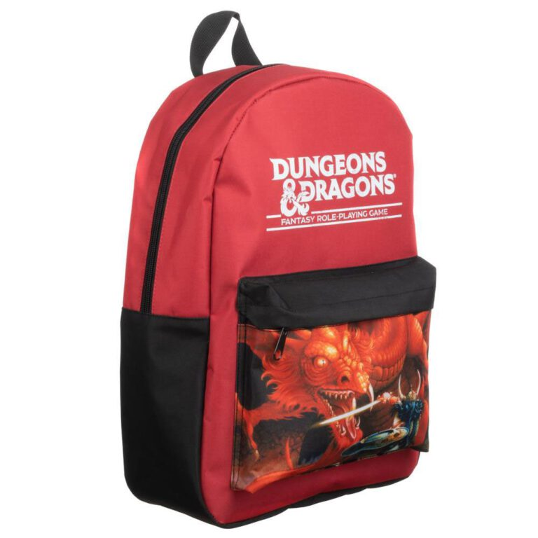 Dungeons and Dragons red dragon backpack.