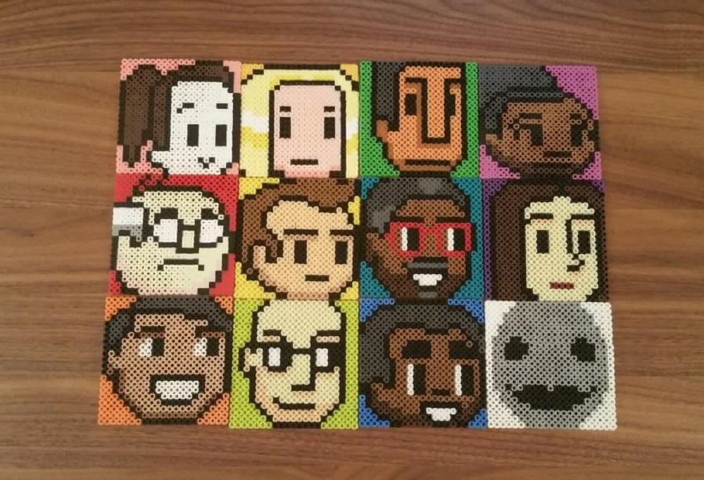 Community 8-bit coasters. Sold on Etsy.