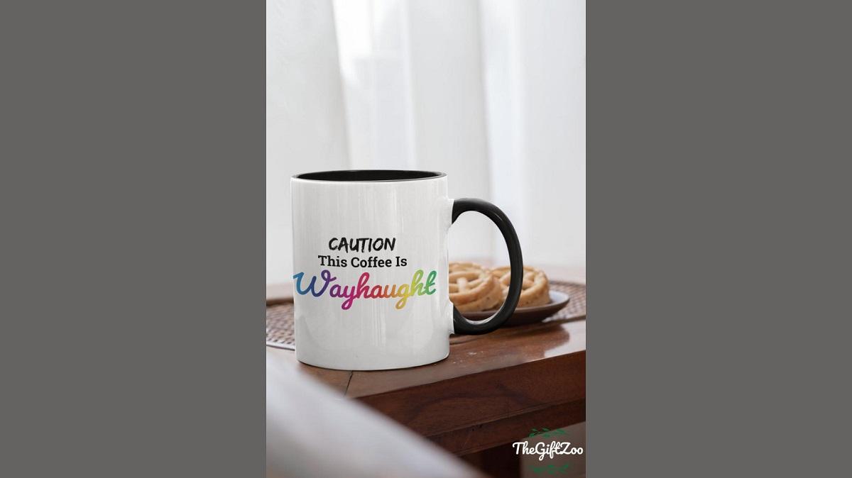 "Photo of Wynonna Earp-inspired merchandise on Etsy: a ""WayHaught"" coffee mug."