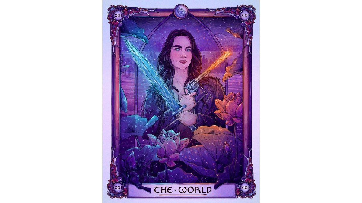 Print of Wynonna Earp in a tarot card style. Sold on Etsy.