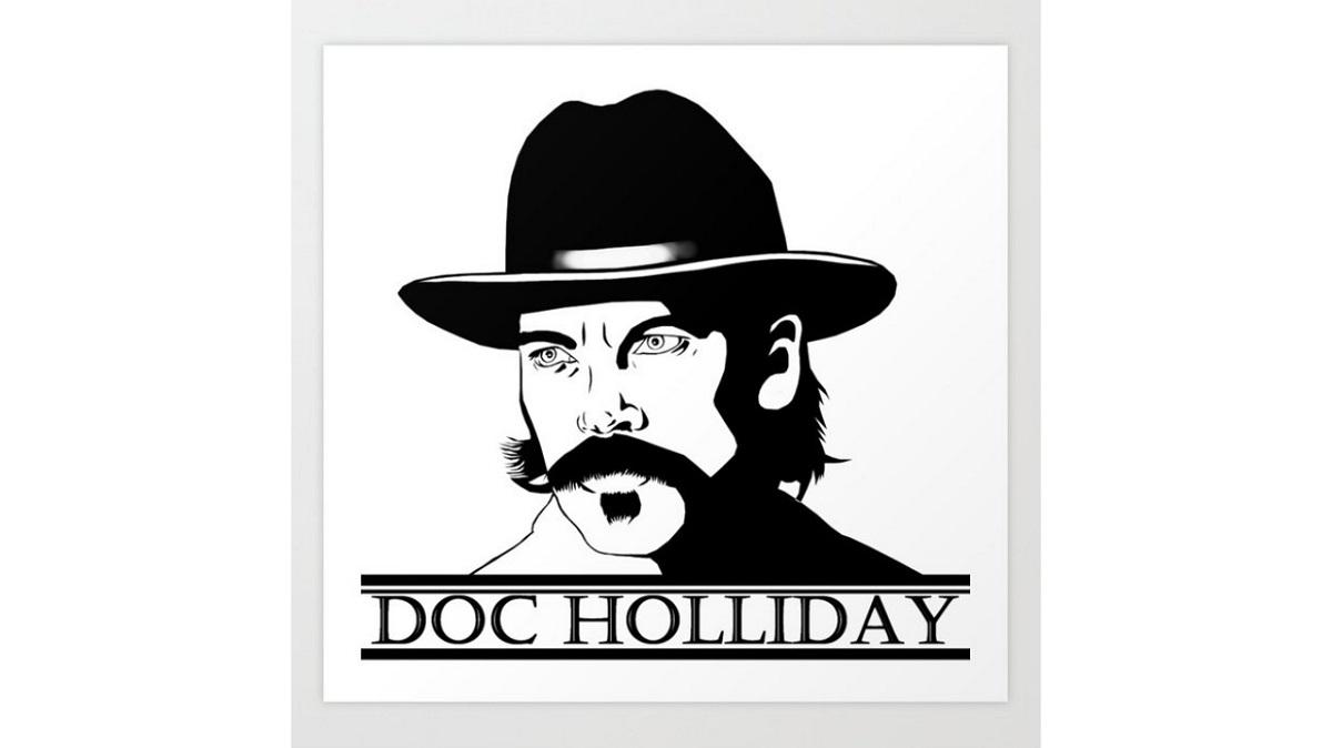 Wynonna Earp Doc Holliday print. Sold on Society6.