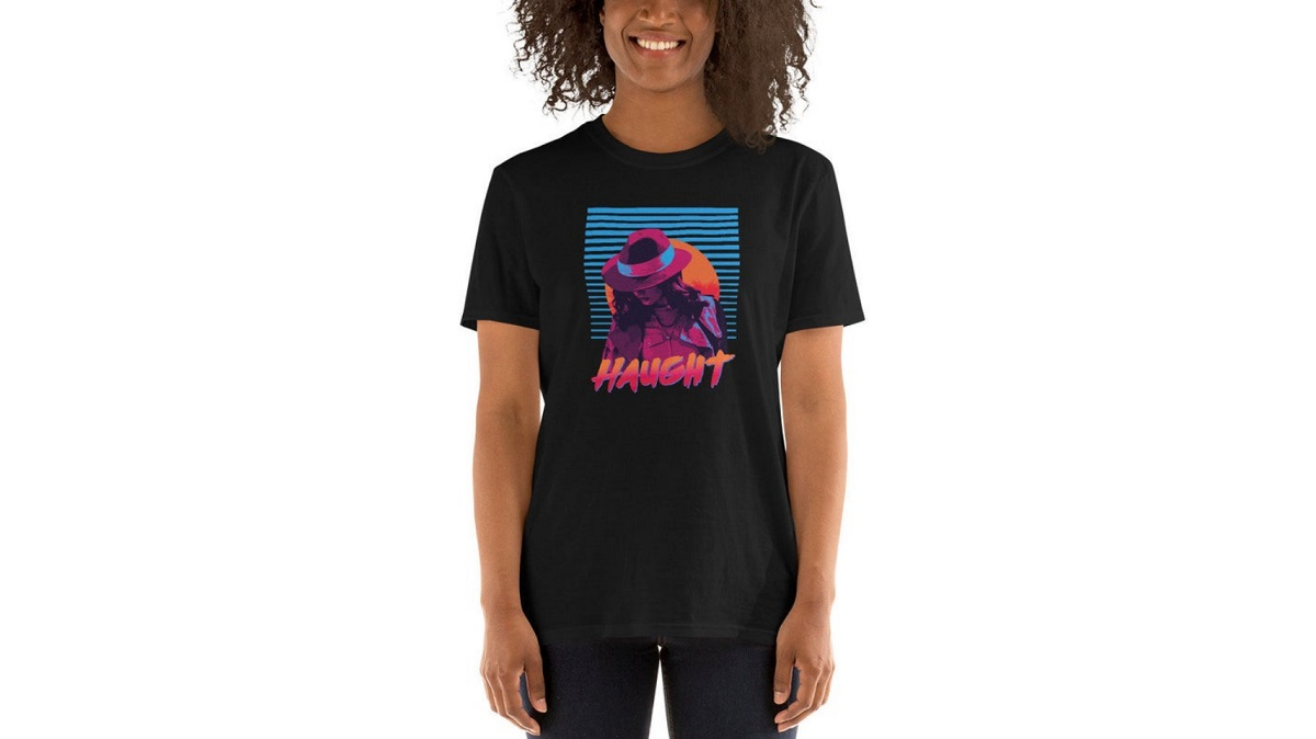 """""""Haught"""" t-shirt featuring Nicole Haught of Wynonna Earp. Sold on Etsy."""