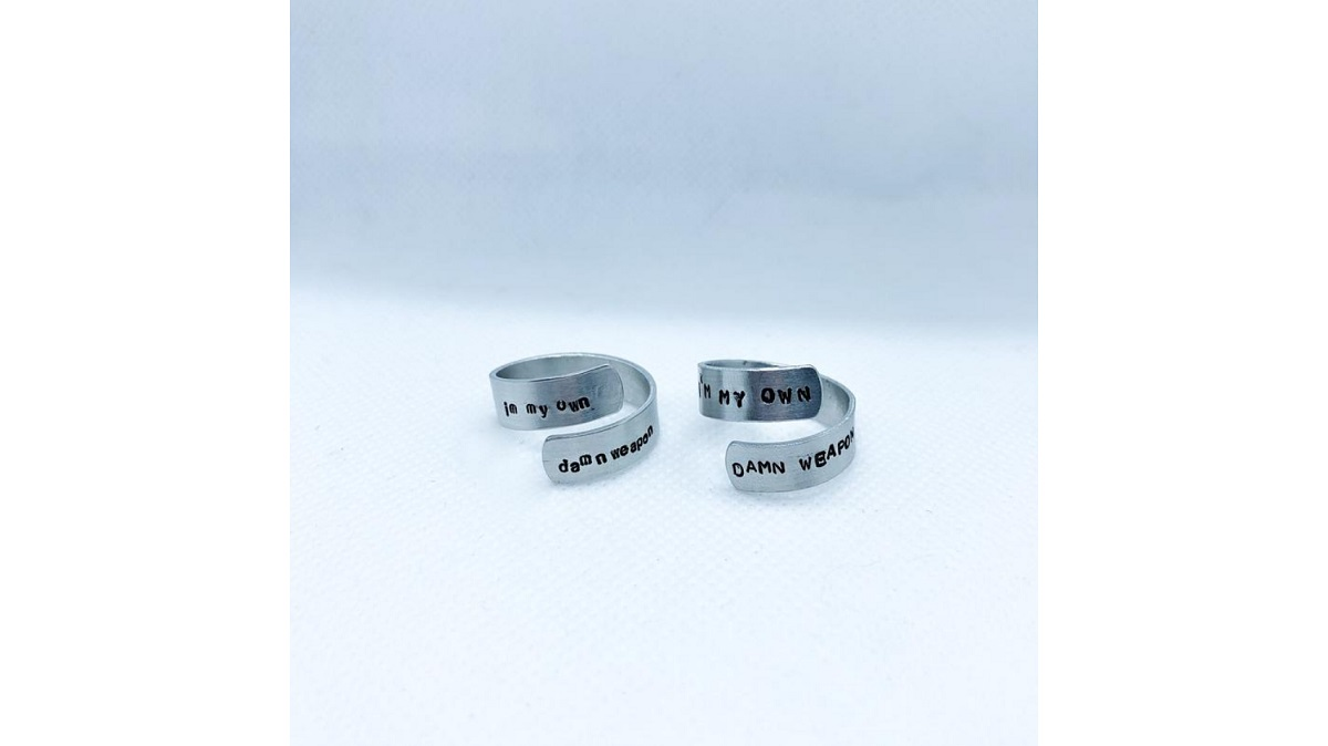 """""""I'm my own damn weapon"""" rings inspired by Wynonna Earp. Sold on Etsy."""