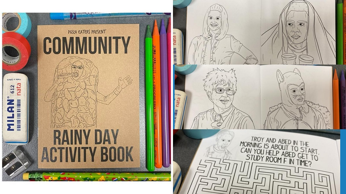 Community coloring and activity book. Sold on Etsy.