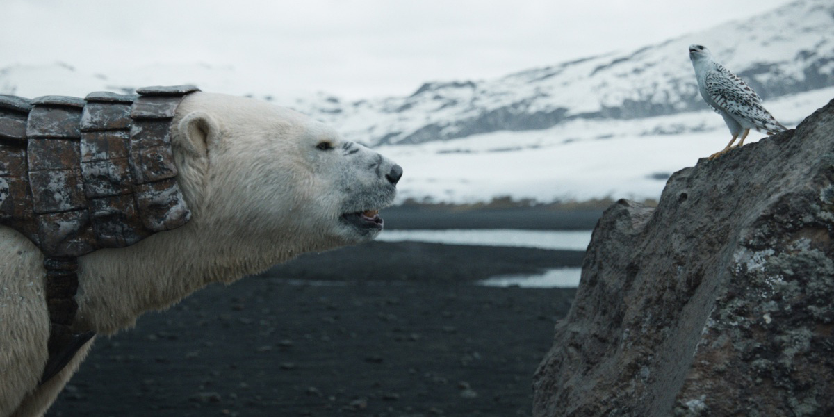 Iorek Byrnison and Kaisa discuss the melting polar ice and Lyra's whereabouts on His Dark Materials