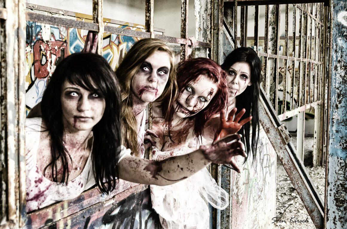 four zombie women