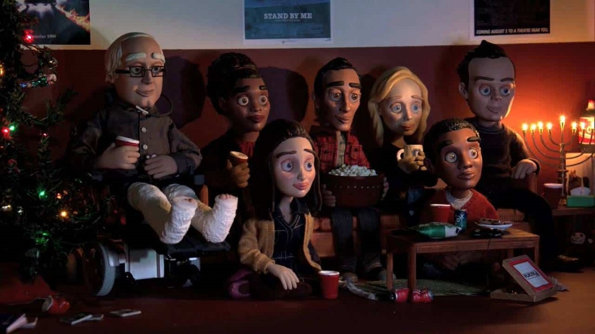 "Still of Community cast in stop-motion animation for ""Abed's Uncontrollable Christmas."""