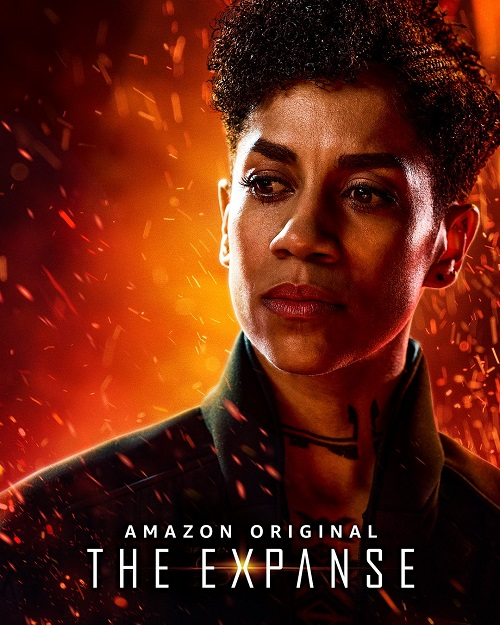 Promotional photo of Dominique Tipper as Naomi Nagata in The Expanse.