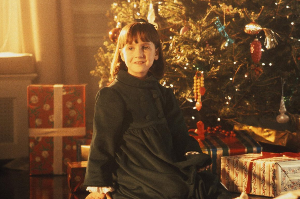 Still of Mara Wilson in Miracle on 34th Street, which will air during Freeform's 25 Day of Christmas.