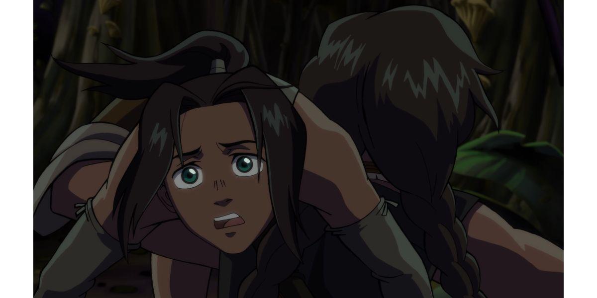 Izel being carried away (Onyx Equinox, season 1 episode 3)