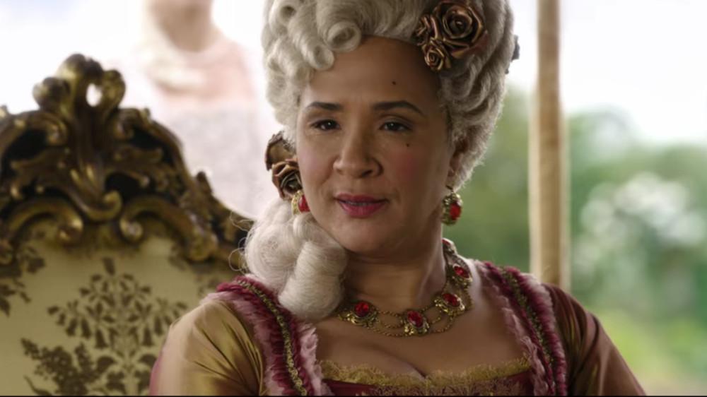 Queen Charlotte in Bridgerton.