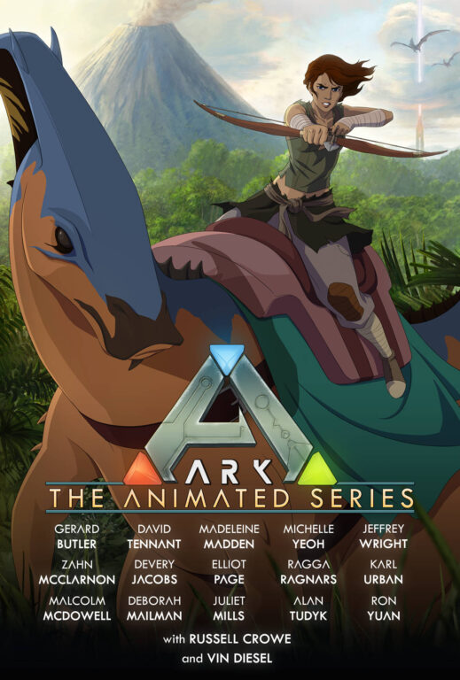ARK: The Animated Series poster feature Helena.