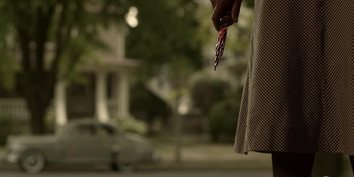 Zelmare Roulette's bloody knife after she murders Loy Cannon on the Fargo Season 4 finale.