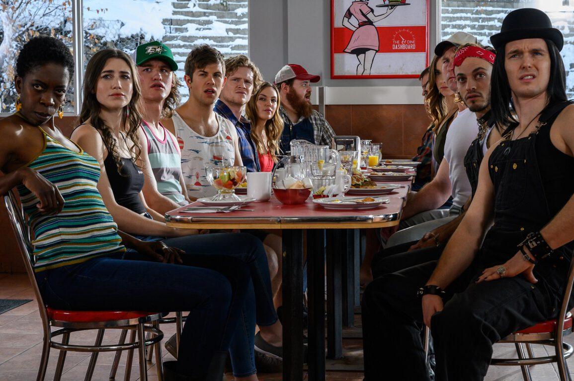 "Still of cast of Letterkenny in ""American Buck and Doe."""