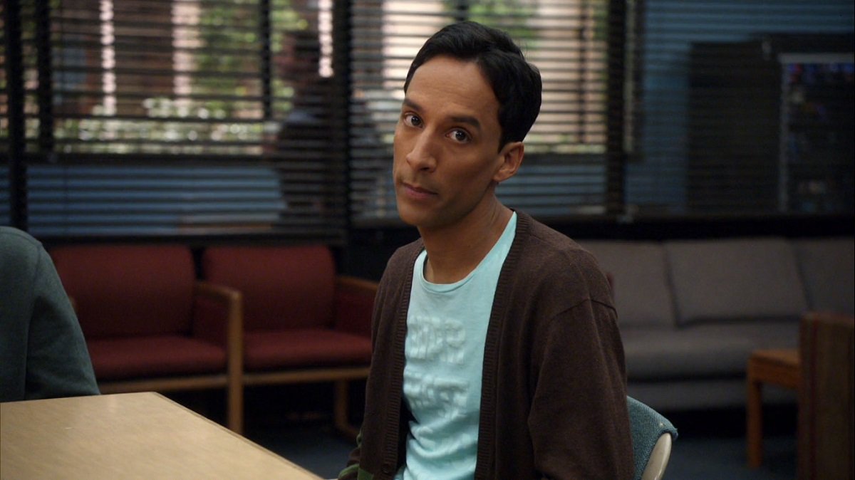 "Still of Danny Pudi as Abed in Community's ""Asian Population Studies."""