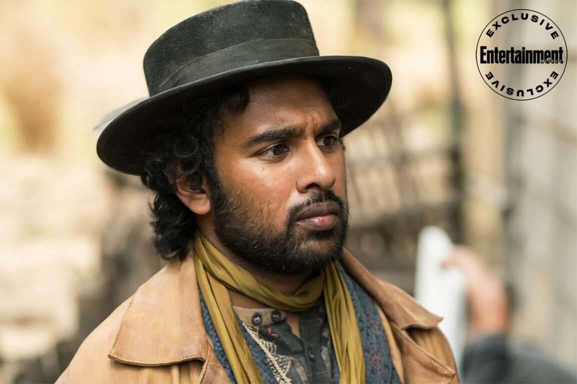 Still of Hamish Patel as Emery Staines in The Luminaries. EW Exclusive by Kirsty Griffin/BBC.