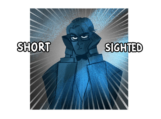 Hades putting his glasses on in Lore Olympus.
