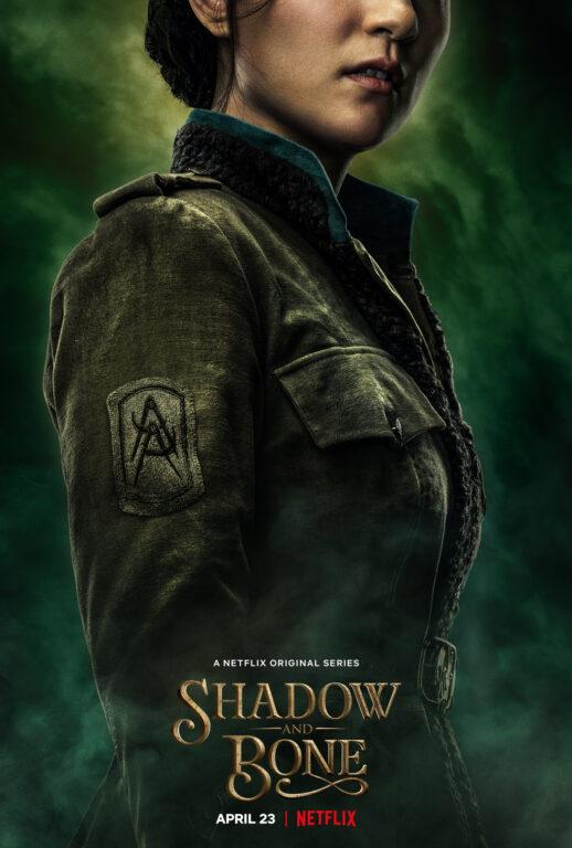 Character poster for Alina Starkov (Jessie Lei Mi).