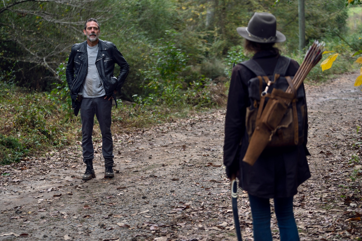 Negan comes face to face with Maggie on The Walking Dead