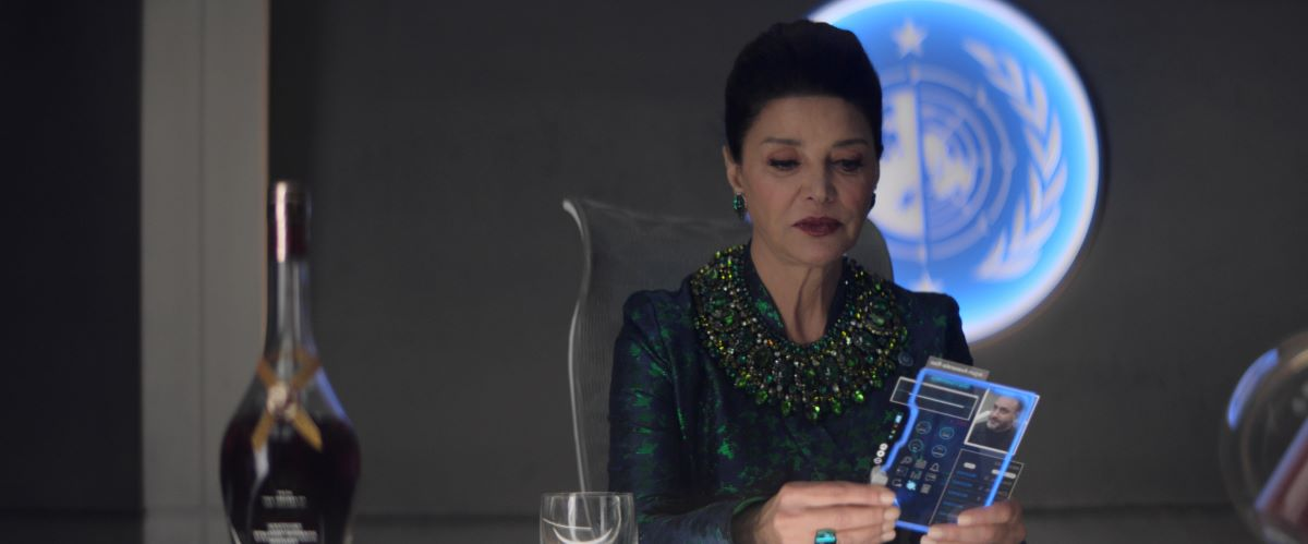 Still of Shohreh Aghdashloo in The Expanse.