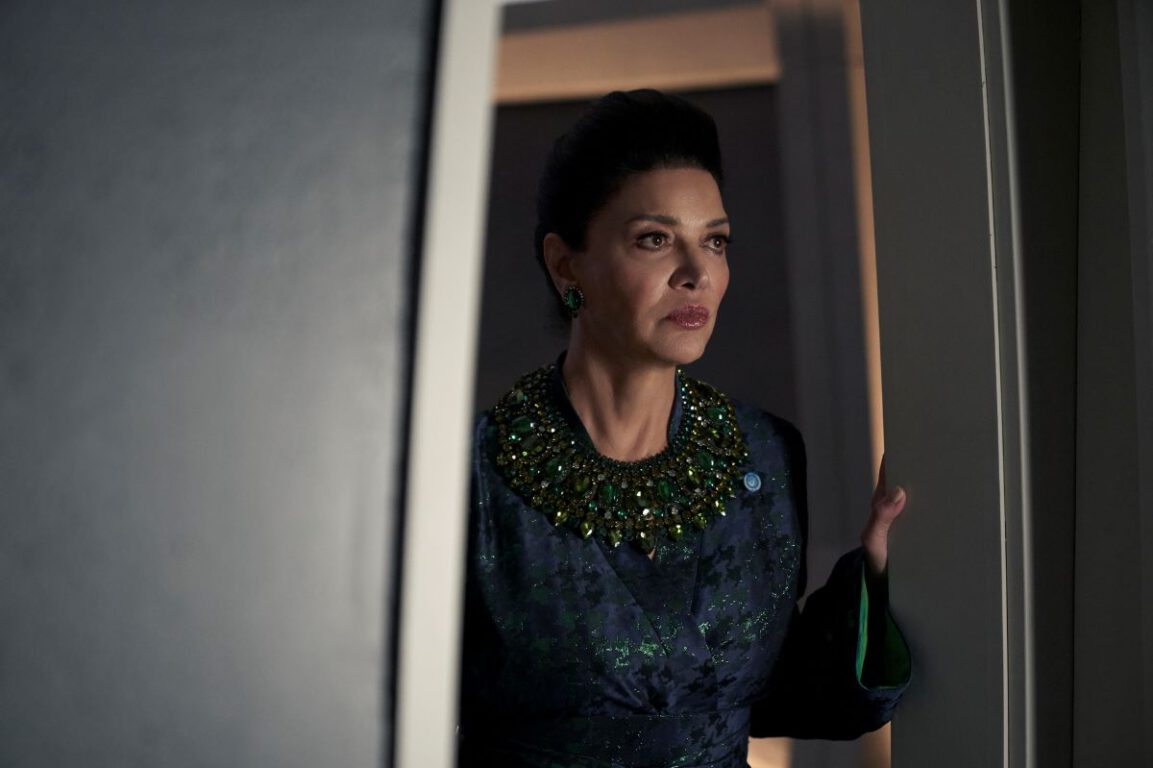 Still of Shohreh Aghdashloo as Chrisjen Avasarala in The Expanse. Photo courtesy of Amazon Studios.